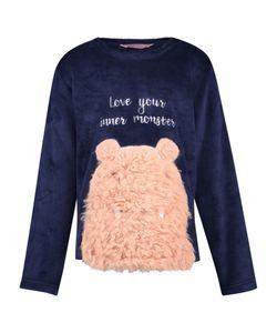 Hunkemöller Fleece-Sweater Teens Blau