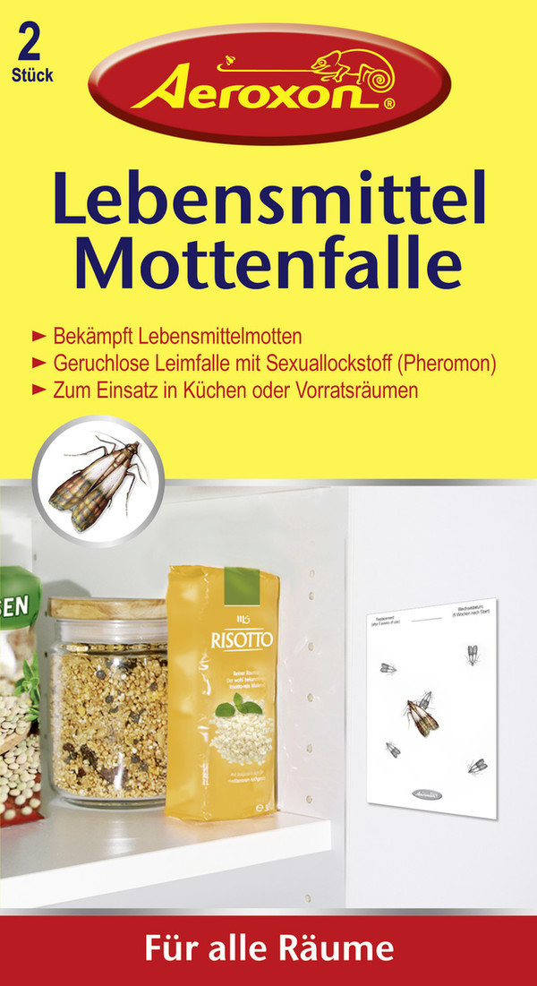 Aeroxon Lebensmittel Mottenfalle 2 Stück