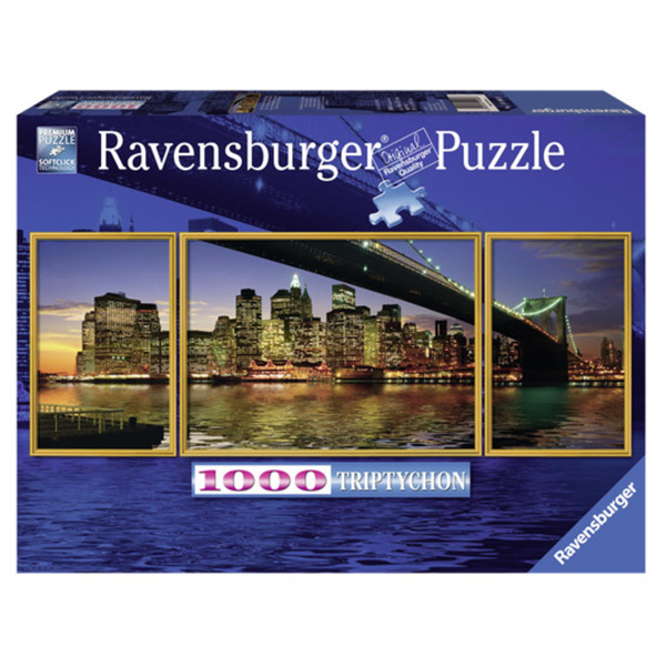 Ravensburger, Puzzle 1000 Teile, Motiv: Brooklyn Bridge