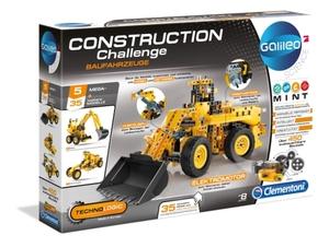 Clementoni Galileo Construction Challenge -für 5 versch.  Baufahrzeug-Modelle