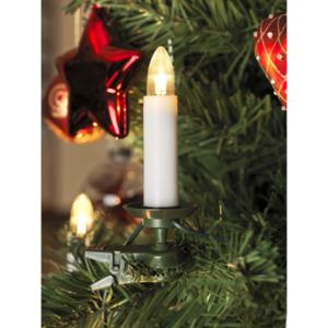 KONSTSMIDE                 LED-Baumkette, Topbirnen, 16 Dioden, warmweiß, teilbarer Stecker