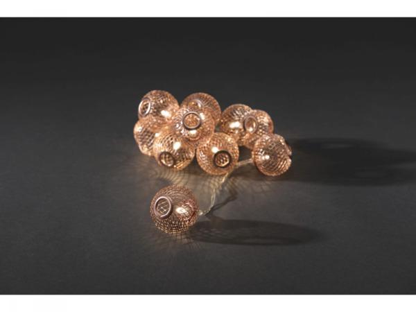 Konstsmide Dekolichterkette Metallkugeln Kupferfarben Von Baywa Bau