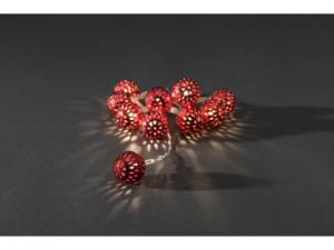 KONSTSMIDE                 Dekolichterkette rote Metallbälle, Ø 2,5 cm