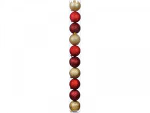"""Weihnachtskugeln """"Glimmer"""" 50mm, Rot/Gold"""