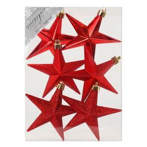 Stern 10 cm, rot, 6 Stück