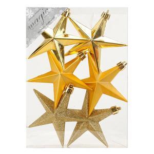 Stern 10 cm, 6er Box, gold