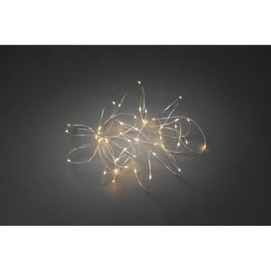 KONSTSMIDE                 LED-Tropfenlichterkette, 50 Dioden, bernsteinfarben, silber