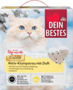 Dein Bestes Katzenstreu, Aktiv Klumpstreu mit Vanille - Duft