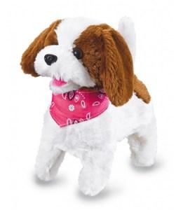 Jamara Lucky Plüschhund weiß/Braun