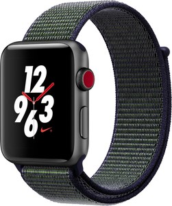 Apple Watch Nike+ (42mm) GPS + Cellular mit Nike Sport Loop spacegrau/midnight fog