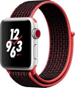 Apple Watch Nike+ (38mm) GPS + Cellular mit Nike Sport Loop silber/bright crimson/schwarz