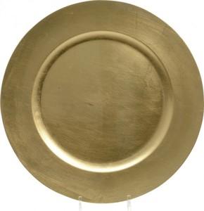 Kaemingk Kunststoffteller ,  Ø 33 cm, gold