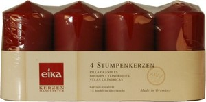 Eika Stumpenkerze Adventsset ,  Höhe 11 cm, Ø 6 cm, 4er Pack