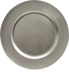 Kaemingk Kunststoffteller ,  Ø 33 cm, silber