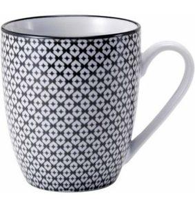 Van Well Kaffeebecher, Porzellan, 6 Stück, »Black Motion«
