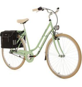 KS Cycling Cityrad »Verona«, 3 Gang Shimano Nexus Schaltwerk, Nabenschaltung, (Set, mit Doppeltasche), inkl. Doppelpacktasche