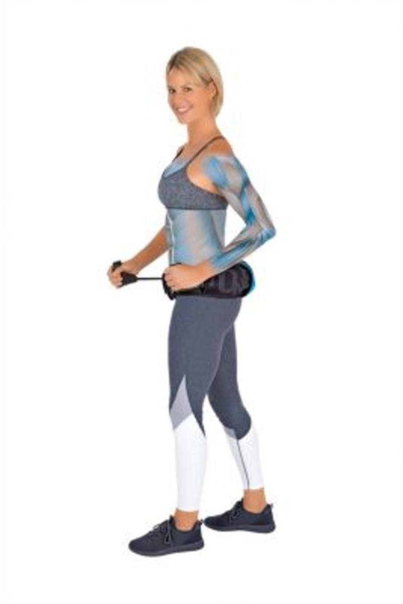 Bild 2 von ToneFit Fitnessgürtel schwarz/blau