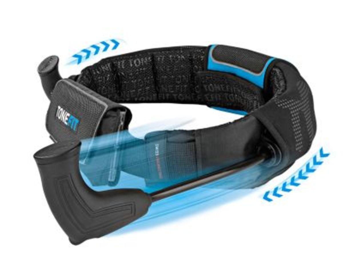 Bild 3 von ToneFit Fitnessgürtel schwarz/blau