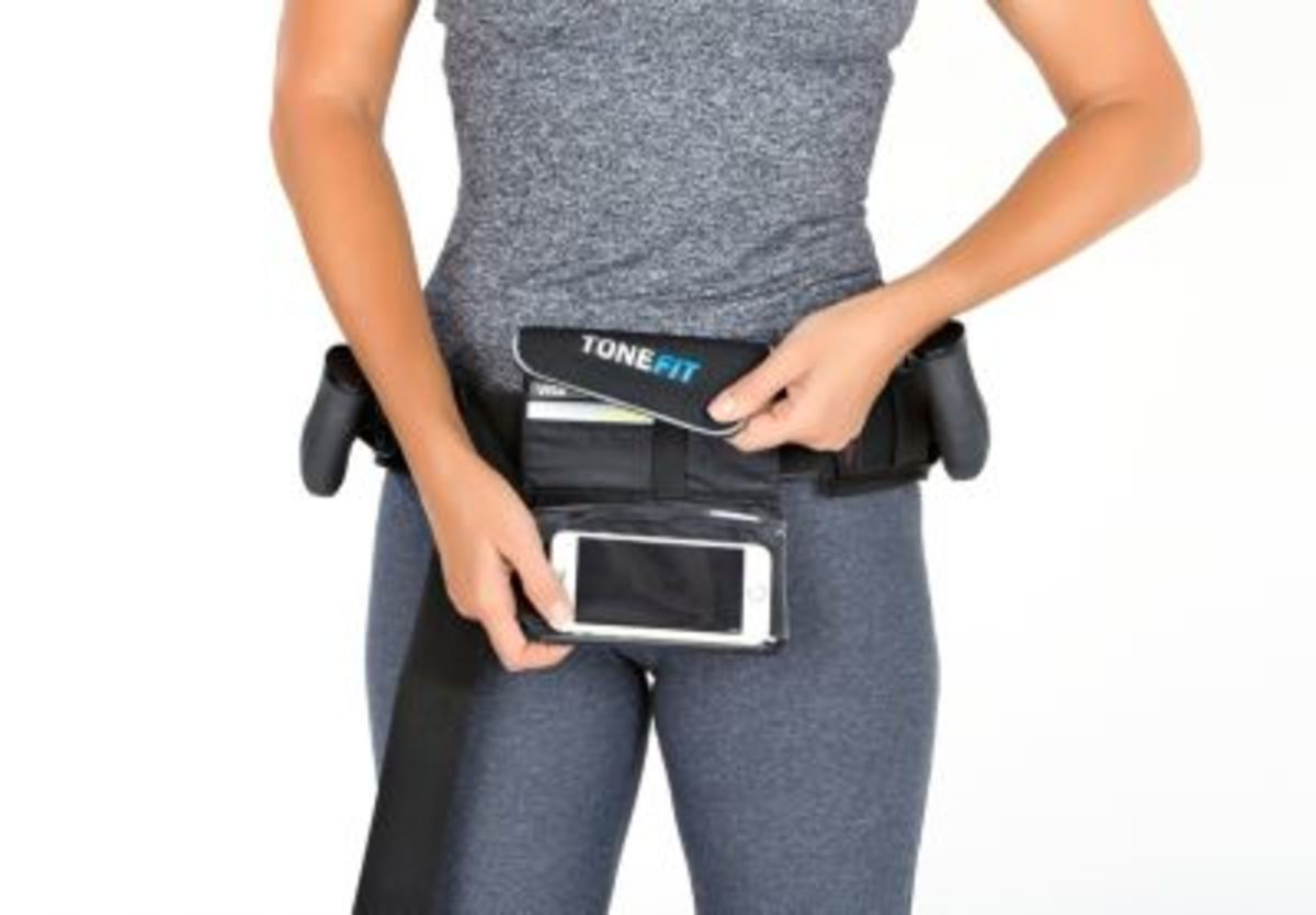 Bild 5 von ToneFit Fitnessgürtel schwarz/blau