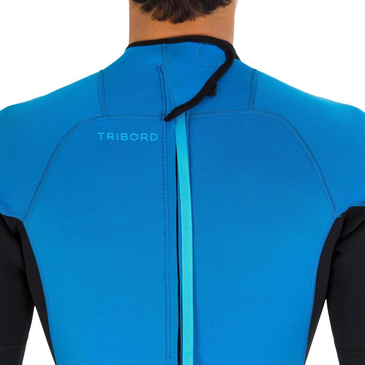 Bild 4 von Neoprenanzug Surfen 100 2/2 mm Herren blau