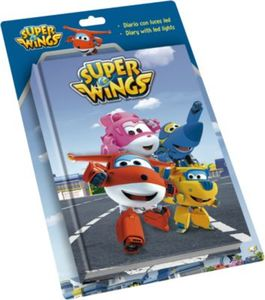 Tagebuch Super Wings mit LED-Licht