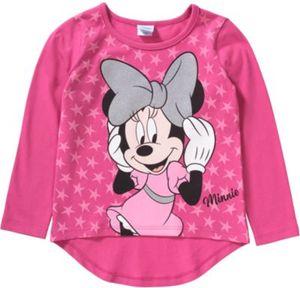Disney Minnie Mouse Langarmshirt Gr. 128 Mädchen Kinder