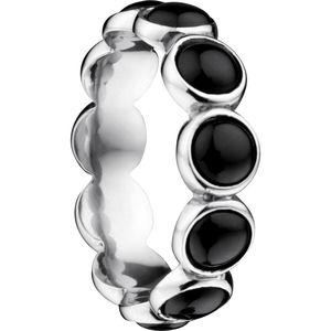 Bering Ring mit schwarzer Keramik, silber