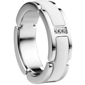 Bering Ring, Edelstahl, weiß