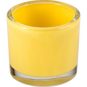Windlicht Glas 8 cm, gelb