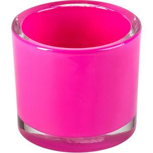 Windlicht Glas 8 cm, pink