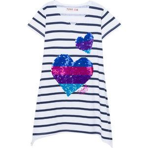 Desigual Mädchen Shirt mit Wendepailletten