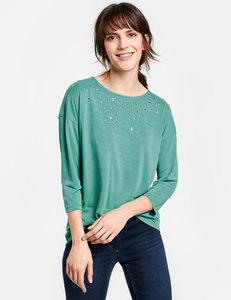 Oversize Shirt mit Ziersteinen