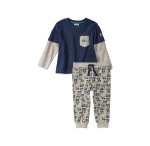 Liegelind Baby-Jungen-Set mit Fahrzeug-Muster, 2-teilig