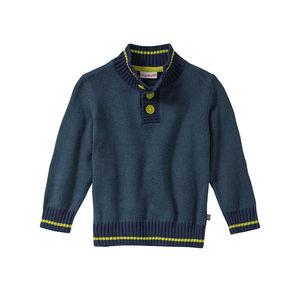 Liegelind Baby-Jungen-Pullover mit Kontrast-Effekten