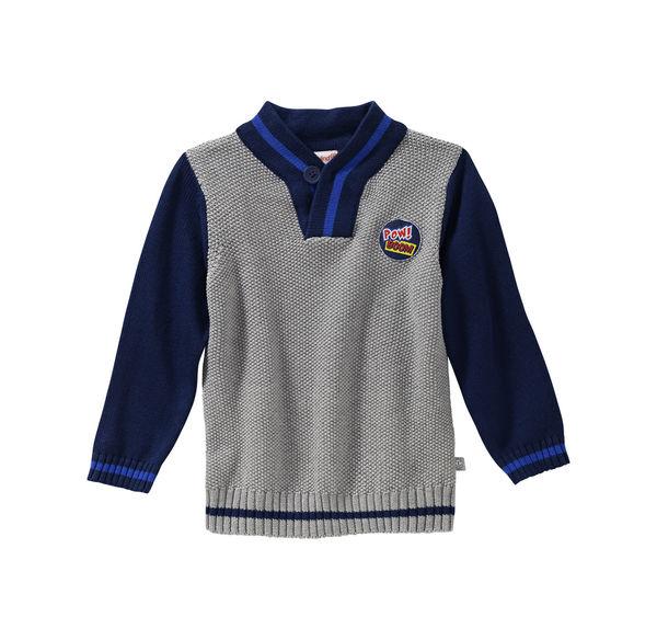 Liegelind Baby-Jungen-Pullover mit Aufnäher