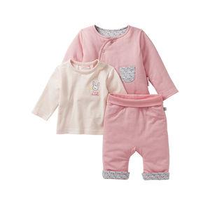 Liegelind Baby-Mädchen-Set mit Wendejacke, 3-teilig