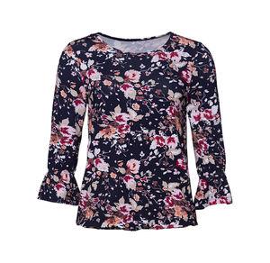 Laura Torelli COLLECTION Damen-Shirt mit bezauberndem Blumenmuster