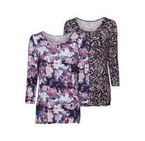 Laura Torelli Classic Damen-Shirt mit modernem Muster