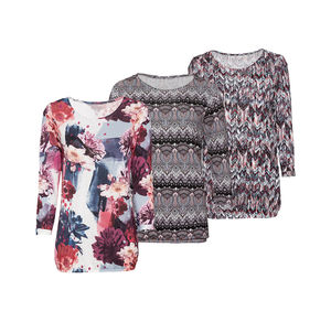 Laura Torelli Classic Damen-Shirt mit schickem Ärmelumschlag