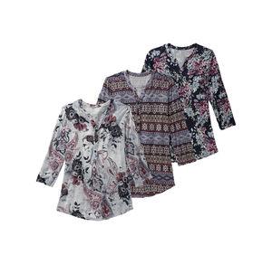 Laura Torelli Classic Damen-Shirt mit schicker Knopfleiste