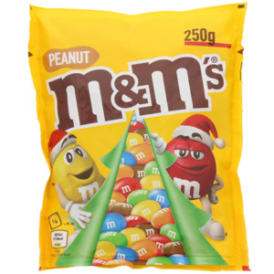 M&M's Erdnuss Weihnachtsedition