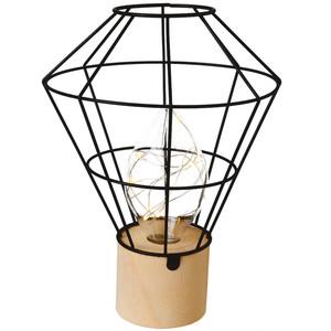Tischlampe mit Holzfuß