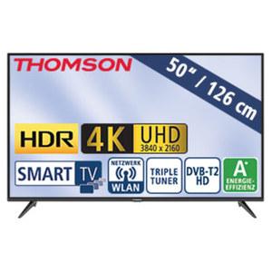 "50""-Ultra-HD-LED-TV 50UD6306 HbbTV, H.265, HDR, Dual-Core, 3 HDMI-/2 USB-Anschlüsse, CI+, Stand-by: 0,26 Watt, Betrieb: 71 Watt, Maße: H 66,0 x B 113,1 x T 7,8 cm, Energie-Effizienz A+ (Spektrum A+"