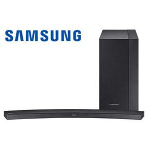 2.1-Bluetooth®-Soundbar HW-M4500 im Curved-Design mit Funk-Subwoofer 260 Watt RMS, 6 integr. Lautsprecher, HDMI-/Aux-Eingang, HDMI-Ausgang, USB-Anschluss, Maße Soundbar: H 4,7 x B 107,8 x T 12,9 cm