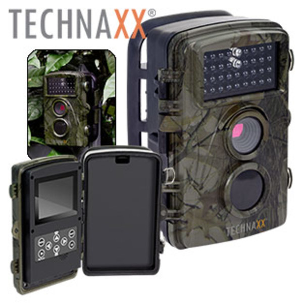 Überwachungs-Kamera Nature Wild Cam TX-69 5,86-cm-LCD-Farbdisplay, FullHD-Video-/Foto-Aufnahmen, PIR-Sensor, Kamera-Schutzklasse IP56, Mikrofon, microSD™-Kartenslot, Batteriebetrieb, inkl. Befesti