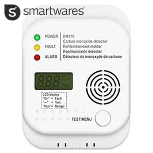Kohlenmonoxid-Melder RM370 für Räume mit Kamin, Gastherme oder Ölheizung, 85-dB-Alarmsignal, Testknopf für regelmäßige Funktionsprüfung, EN50291, inkl. Batterien