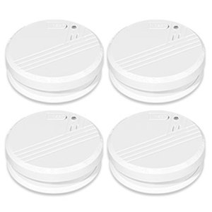 4er-Pack Rauch-Warnmelder FA23-4 netzunabhängig, Batteriebetrieb, Testknopf für regelmäßige Funktionsprüfung, inkl. Batterien