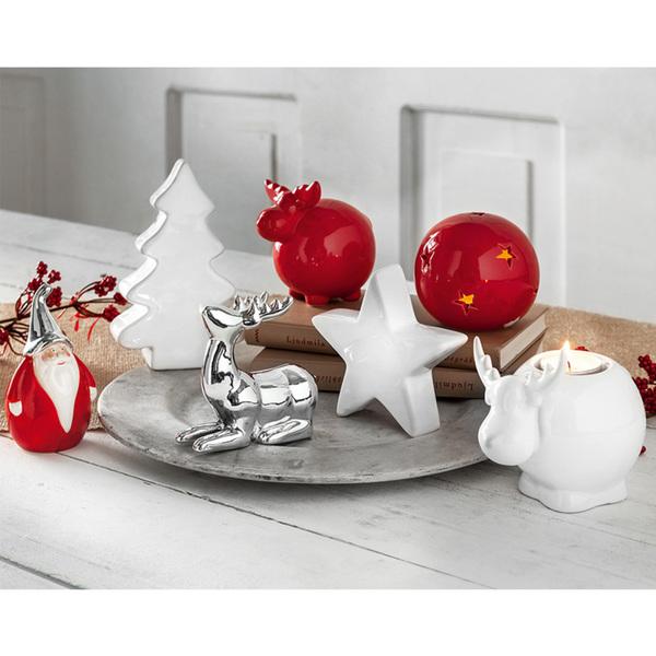 Casa Weihnachtsdeko.Bella Casa Keramik Weihnachtsdeko