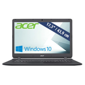Notebook Aspire ES 17 ES1-732-P6LA · HD+-Display mit LED Backlight · Intel® Pentium® Prozessor N4200 (bis zu 2,5 GHz) · Intel® HD Graphics 505 · USB 2.0, USB 3.0 · DVD-Brenner, Webcam