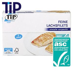 Feine Lachsfilets gefroren, jede 2 x 125 g = 250-g-Packung und weitere Sorten